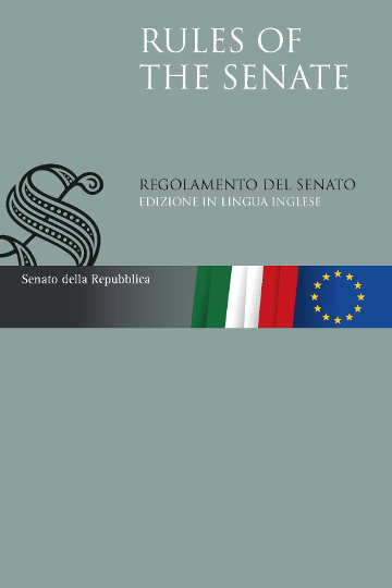Rules of the Senate. Regolamento del Senato. Edizione in lingua inglese